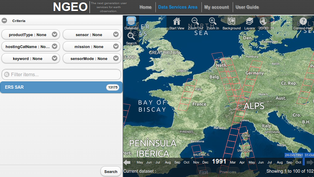 Maps and Services for ESA powered by Open Data & Open Source